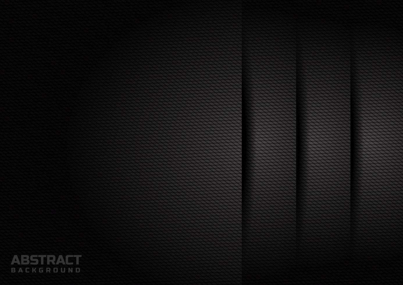 sfondo nero a strati con motivo a rombi vettore