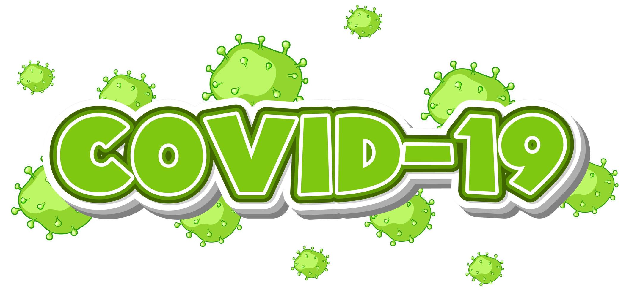 testo covid-19 verde vettore