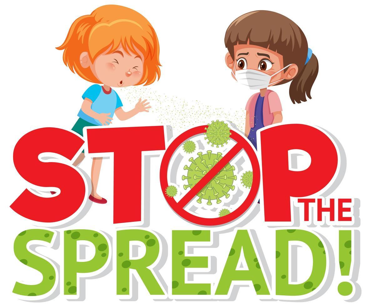 fermare il design del poster di diffusione del coronavirus vettore