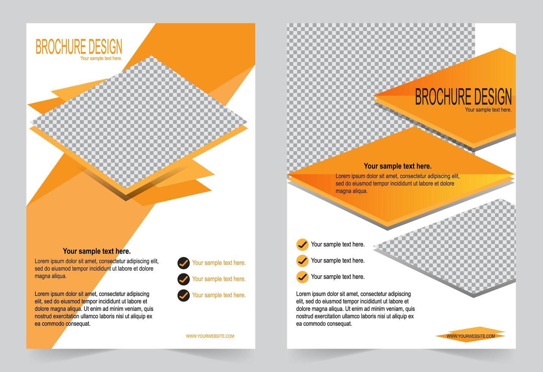 design volantino copertina arancione vettore