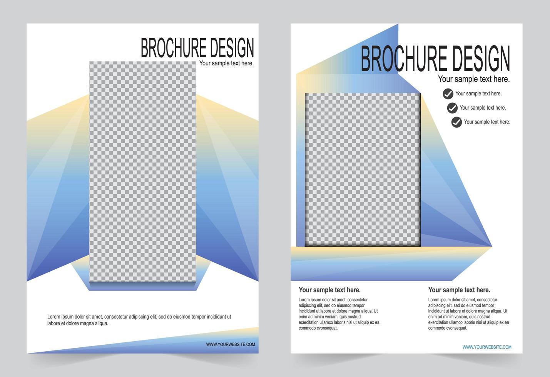 modello di copertina rapporto annuale prisma colorato vettore