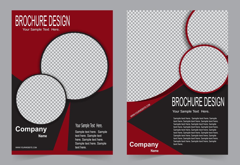 modello di progettazione brochure rosso e nero vettore