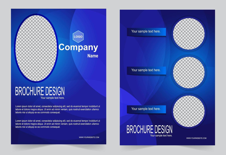 copertina blu royal per brochure vettore