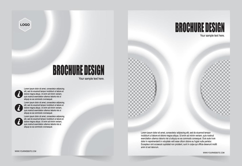 brochure copertina sfumata bianca vettore