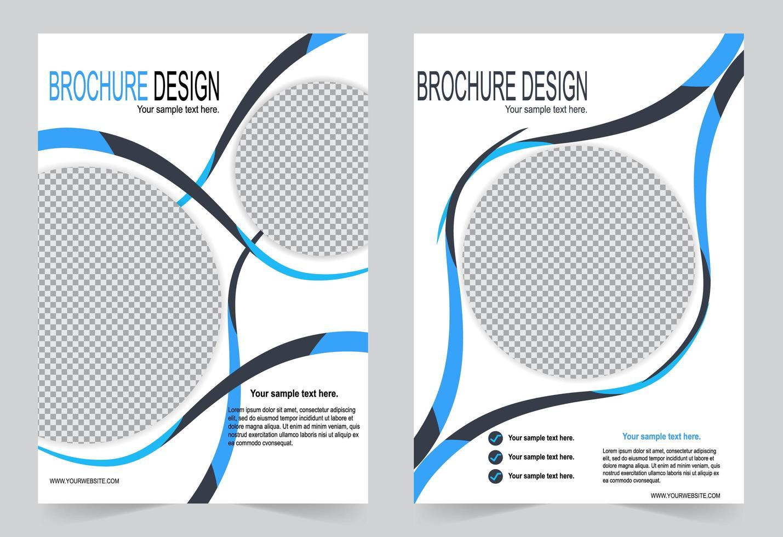 disegno di copertina volantino cerchio blu vettore