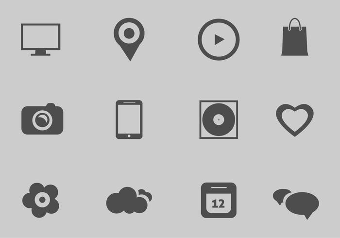 Set di icone vettoriali Web