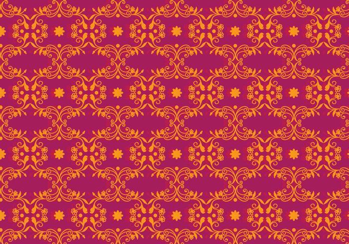 Vector Magenta Floral Background