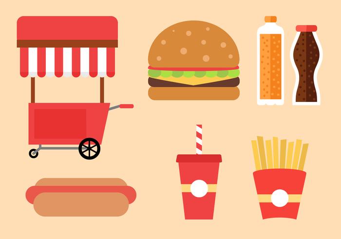 Vettore di fast food