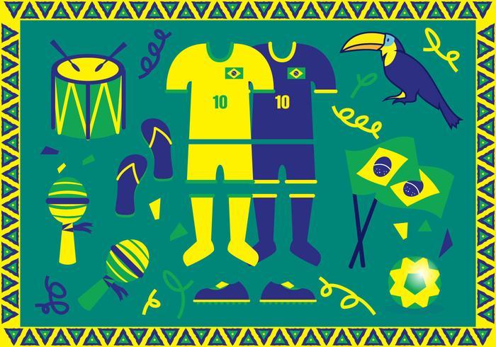 Vettore delle illustrazioni del Brasile