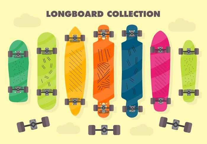 Sfondo vettoriale Longboard gratuito