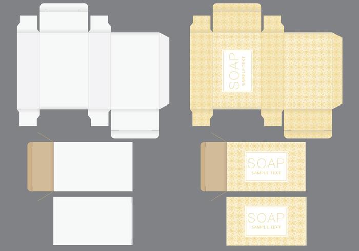 Modello di scatola di sapone vettore