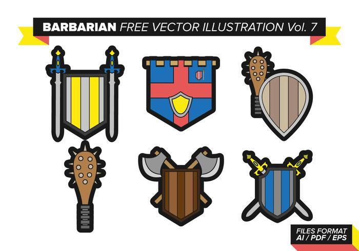 barbarian free vector pack vol. 7