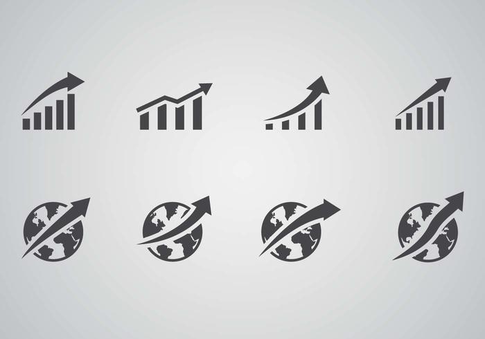 Vettore di affari di crescita