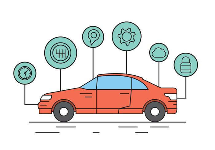 Elementi vettoriali auto gratis