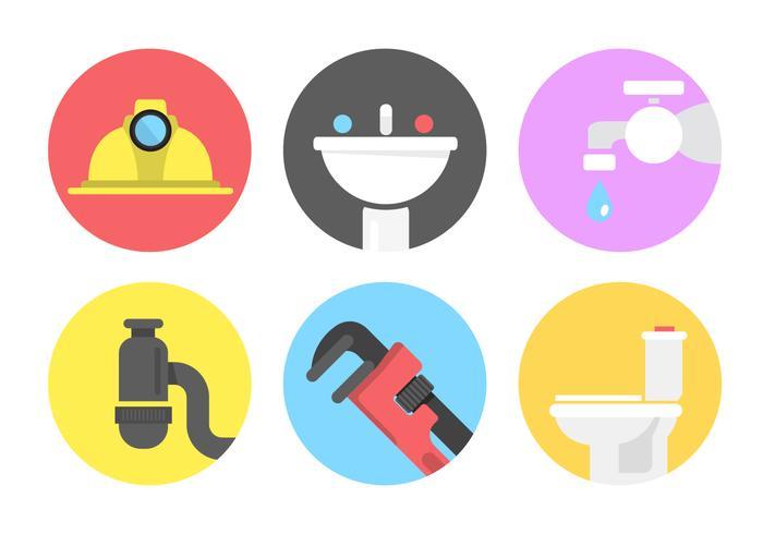 Icone di vettore dell'impianto idraulico