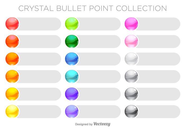 Set punti di pallottola colorati vettoriale