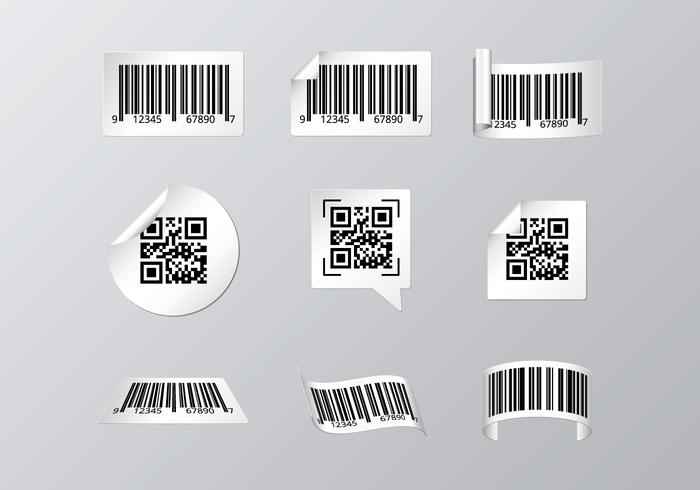 Etichetta per scanner di codici a barre vettore