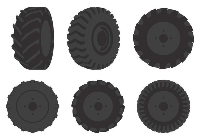Illustrazione della gomma del trattore vettore