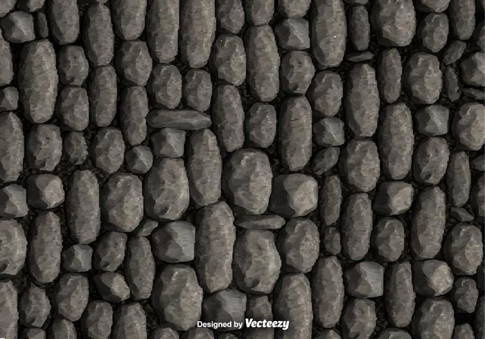 Vettore del fondo della parete di pietra del ciottolo