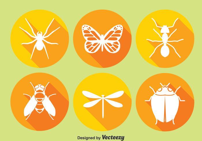 Icone del cerchio dell'insetto vettore