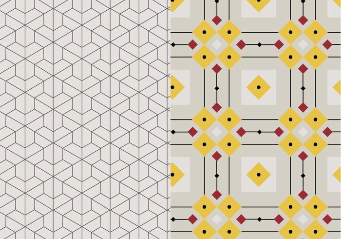 Motivo geometrico del mosaico vettore