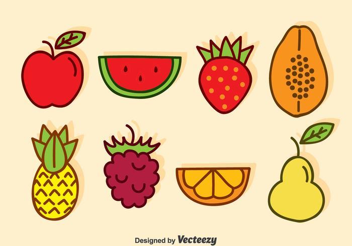 Vettore di frutta del fumetto