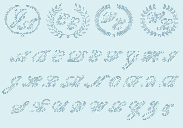 Monogrammi di nozze vettore