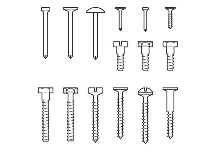 Profilo delle unghie vettore