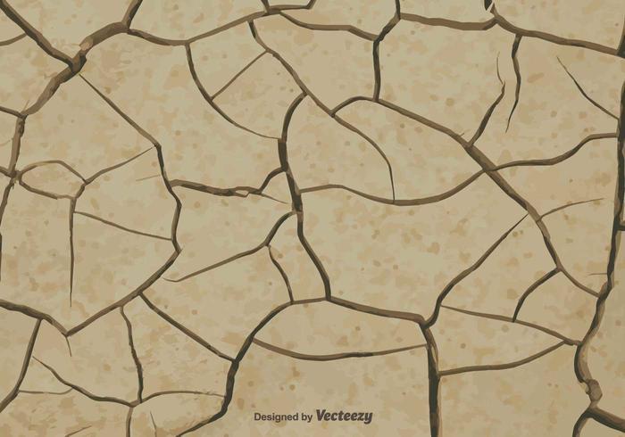 Vector Earth Cracked A causa della siccità
