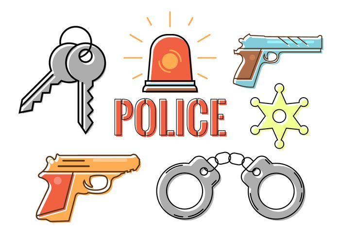 Accessori della polizia in vettoriale