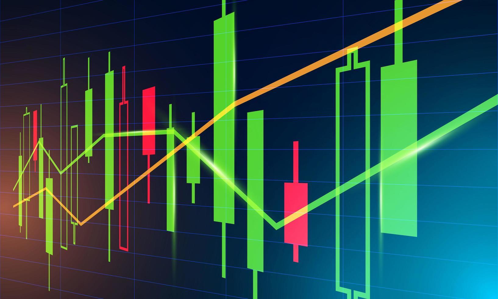 sfondo grafico di investimento vettore
