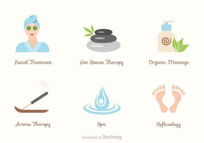 Icone di vettore di benessere e benessere