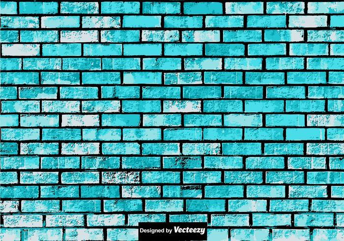 Struttura astratta del muro di mattoni blu di lerciume vettore