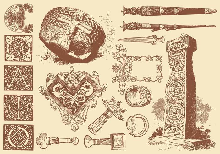 Artigianato di arte celtica vettore