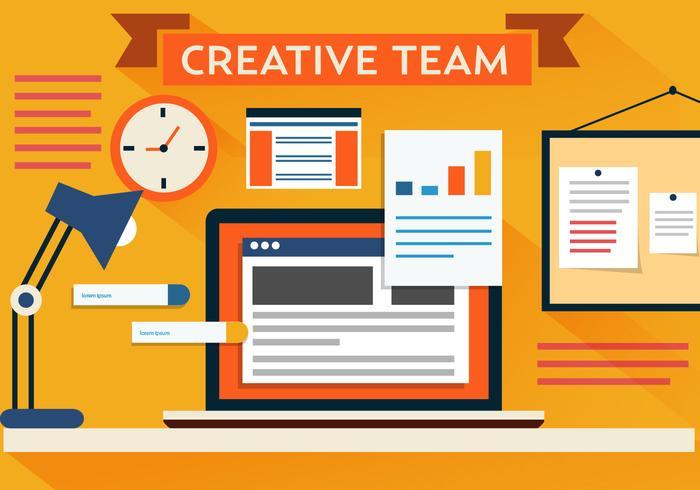 Vector Creative Team Desk