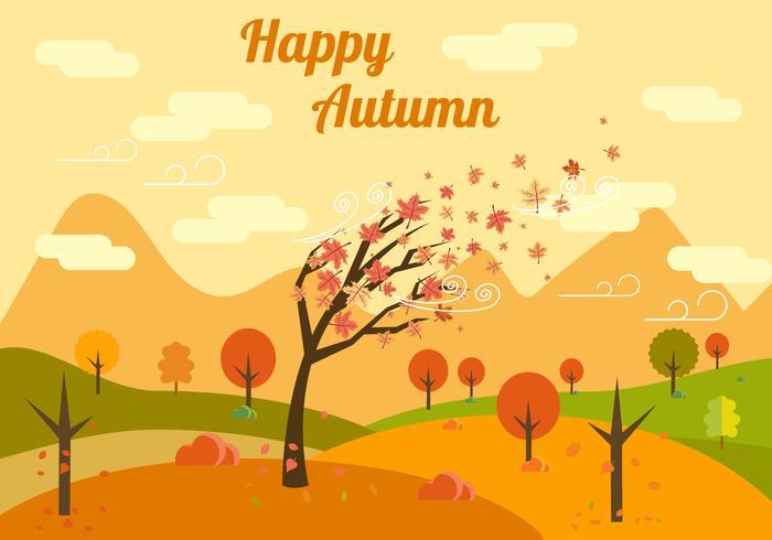 Illustrazione vettoriale di autunno gratis