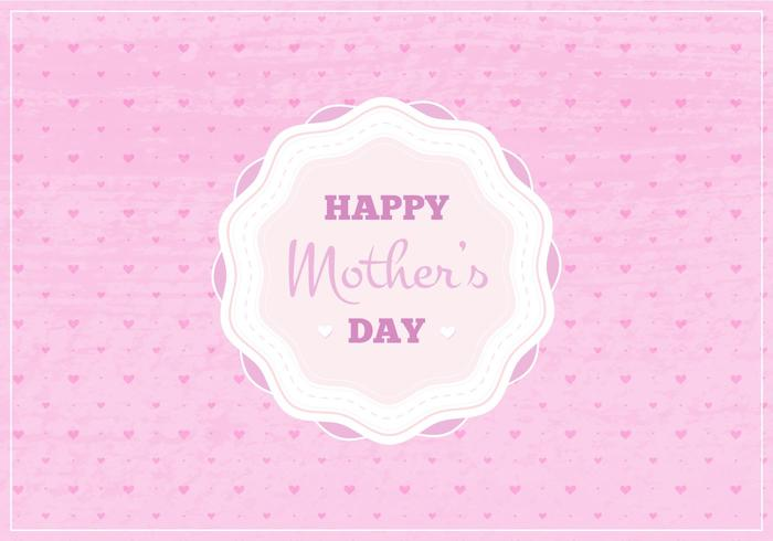 Vector Happy Moms Day Illustration