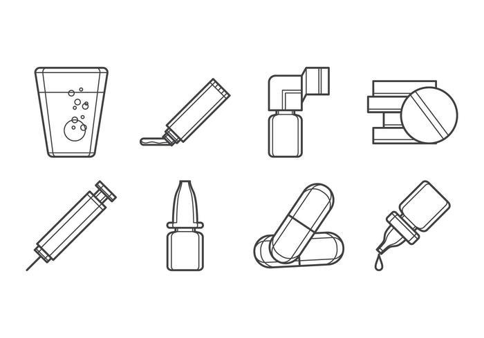 Vettore dell'icona della forma delle droghe