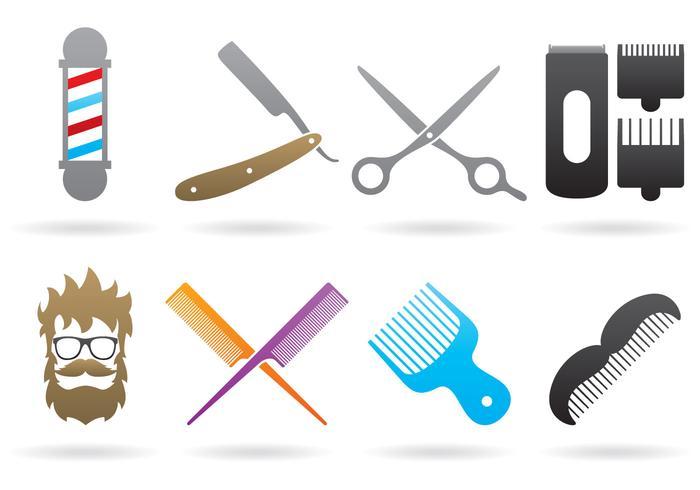 Loghi del barbiere vettore