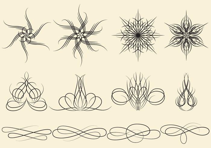Ornamenti a strisce di pin vettore