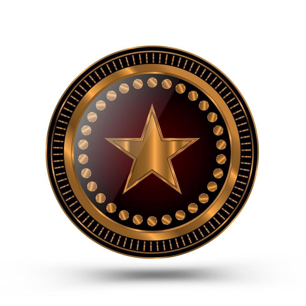 medaglia d'oro stile sceriffo vettore