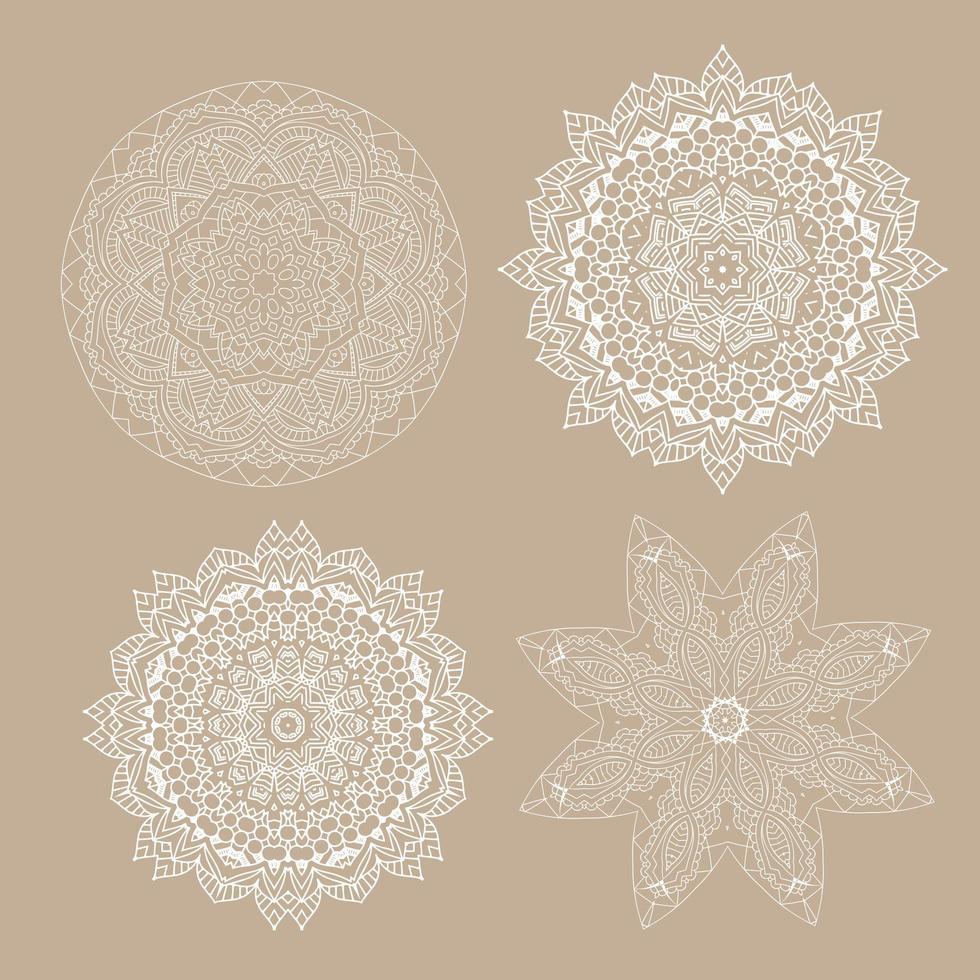 collezione di disegni decorativi mandala vettore