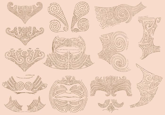 Tatuaggi Maori vettore