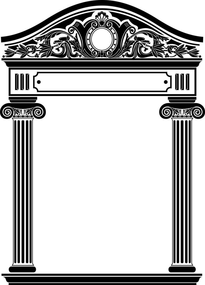 portale antico classico con colonne vettore