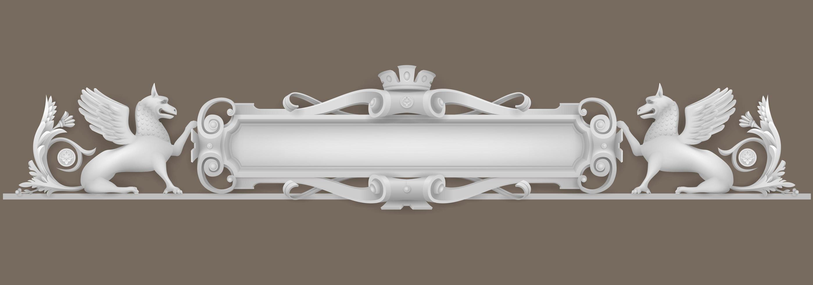 elemento architettonico stemma vettore