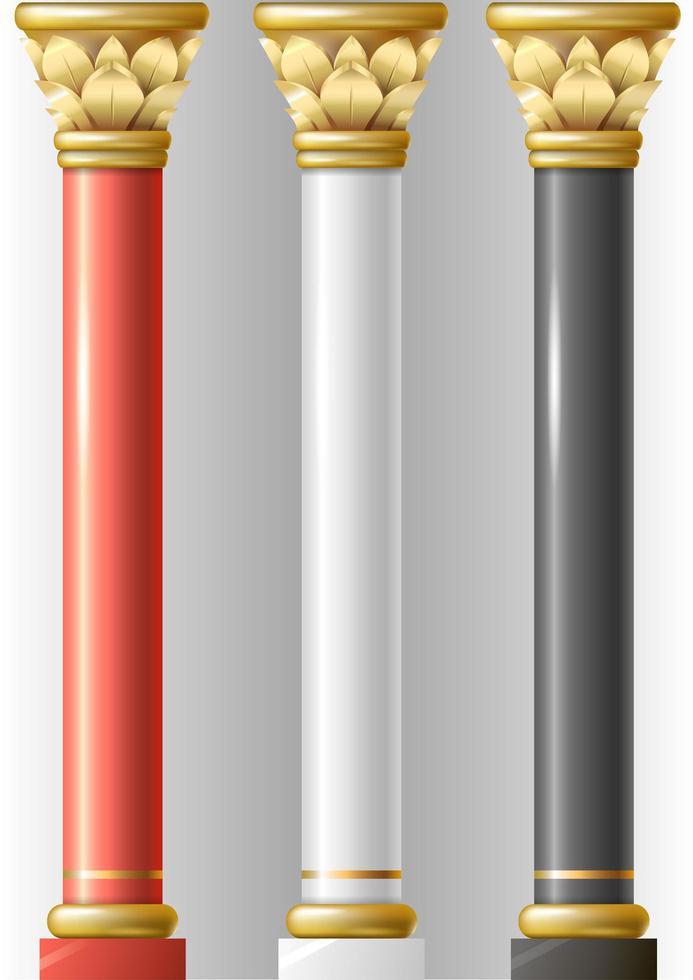 set di pilastri di lusso vettore