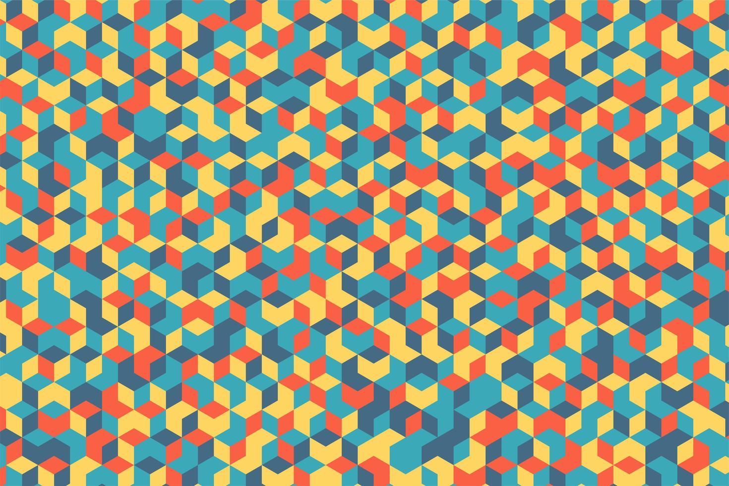 disegno a mosaico colorato forma geometrica vettore