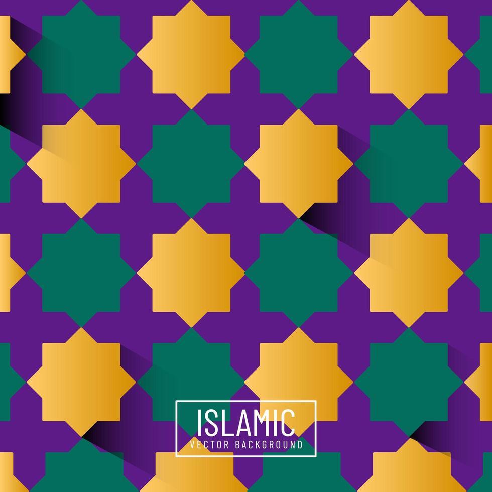 modello islamico colorato vettore