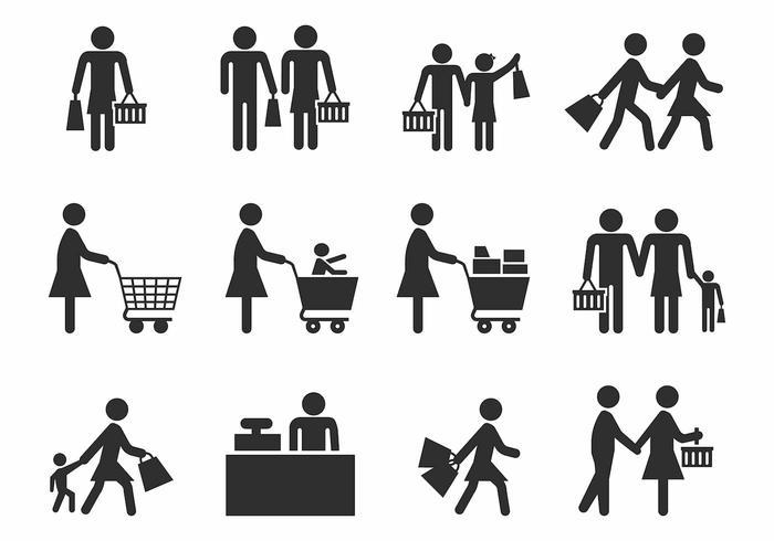 Famiglia Shopping Vector