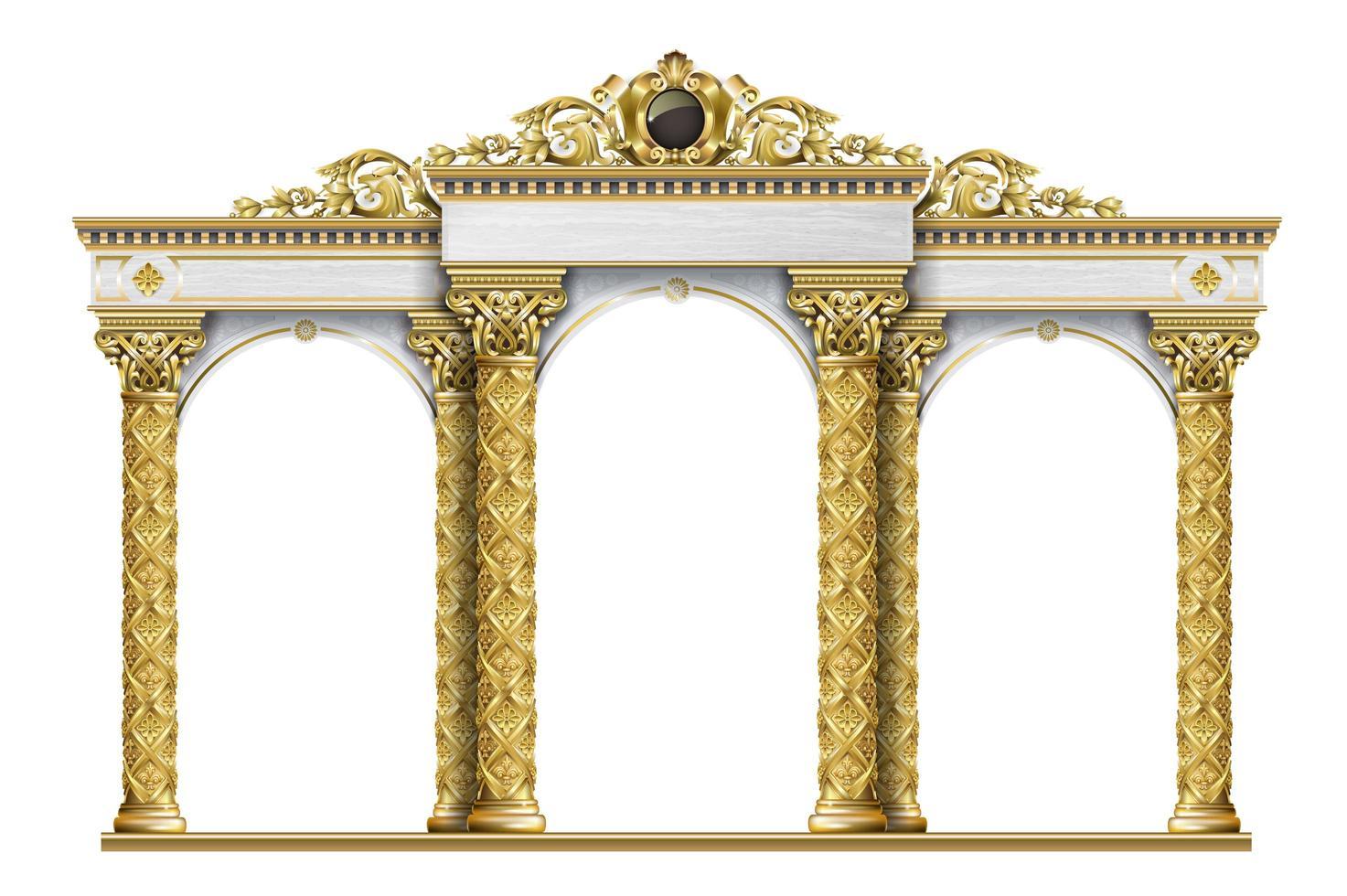 arco classico di lusso antico vettore